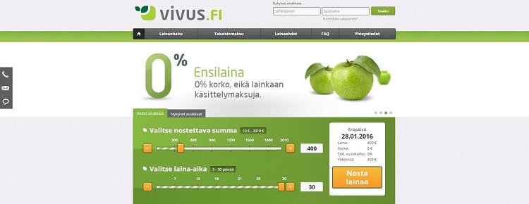 Hae kuluton ensilaina Vivus.fi palvelusta!