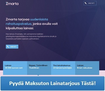 Zmarta - Nopea ja edullinen lainapalvelu!