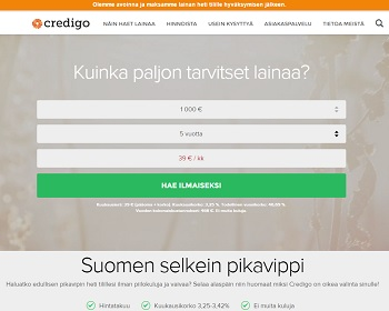 Credigo - Suomen selkein pikavippi!