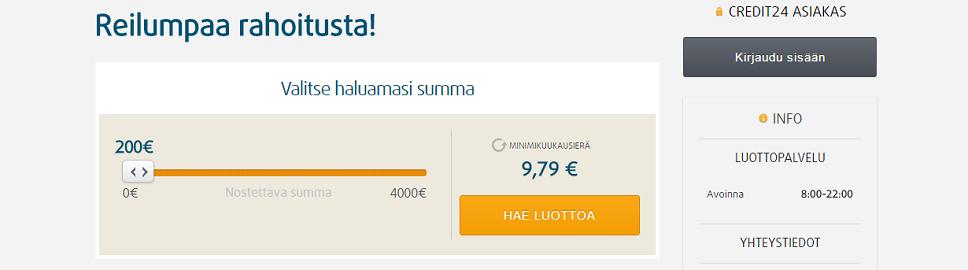 Credit24 - Joustavaa lainaa netistä!
