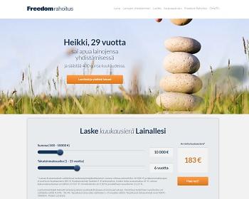 Freedom Rahoitus - Lainaa netistä 500 - 50.000 euroa.