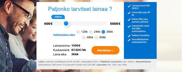 Laina.fi kertalaina on edullinen kulutusluotto.