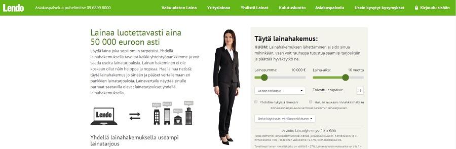 Lendo.fi - Lainaa netistä 500 - 50.000 euroa.