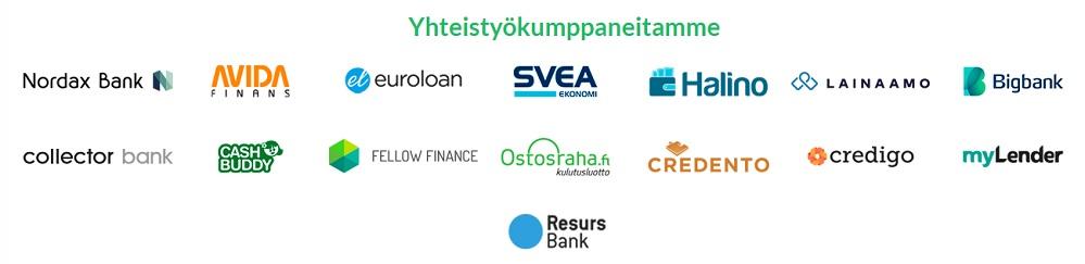 VertaaPankkeja.fi yhteistyökumppanit.