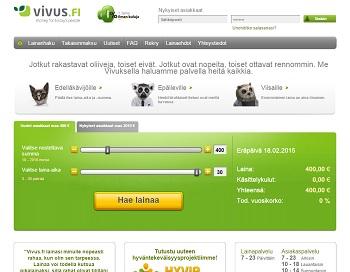 Vivus.fi - Korotonta lainaa netistä!