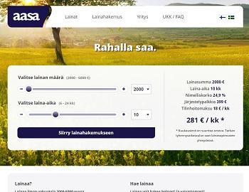 Hae lainaa Aasa.fi palvelusta!