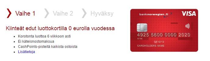 Bank Norwegin.fi Hae luottokortti tästä.
