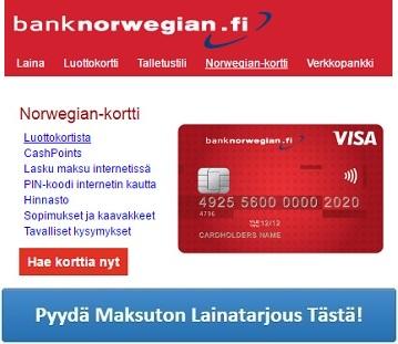 bank-norwegian-luottokortti-pyyda-tarjous