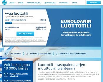 Euroloan luottotili - Tutustu tarkemmin.