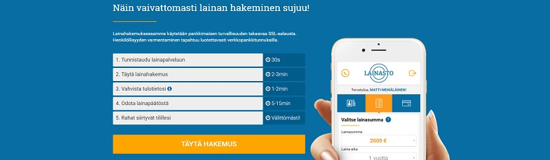 Lainasto.fi Joustolainaa haet nopeasti!