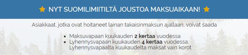 Hae ilmainen tonni Suomilimiitti.fi palvelusta!