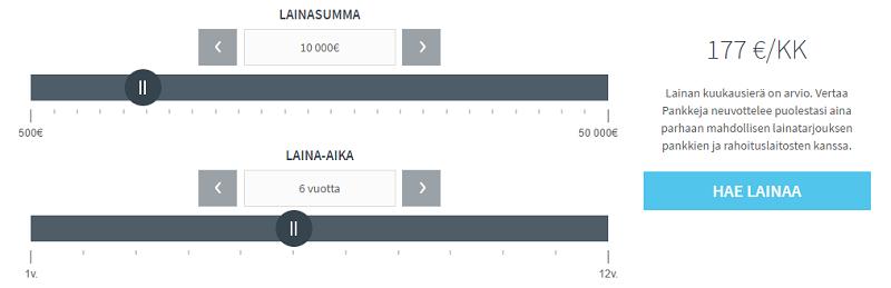 VertaaPankkeja.fi tutustu lainalaskuriin tästä.