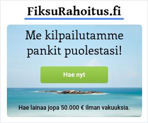 FiksuRahoitus.fi kilpailuttaa pankit puolestasi!
