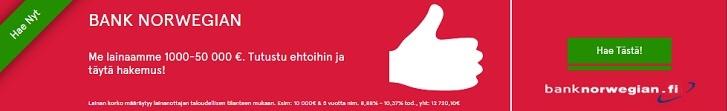 Hae lainaa Bank Norwegian pankista!