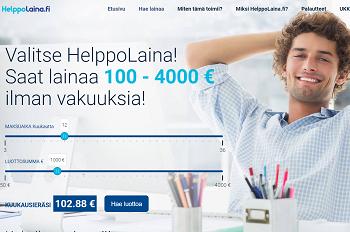 HelppoLaina.fi luottoa ilman lainan takaajaa!