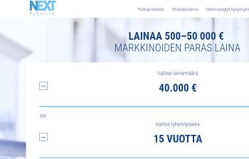 Nextrahoitus lainaa 500 - 50.000 euroa.