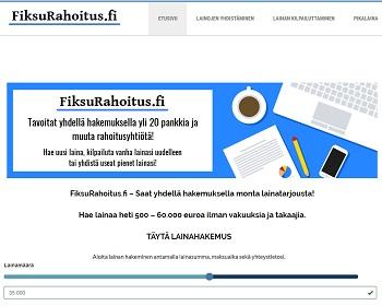 FiksuRahoitus.fi - Lainaa heti 2000 - 60.000 euroa.