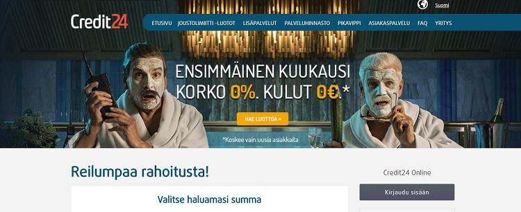 Hae joustoluotto Credit24.fi palvelusta!