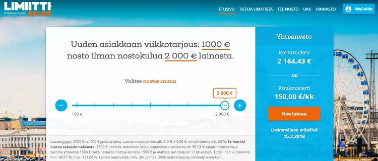 Limiitti.fi myöntää joustavaa joustoluottoa!
