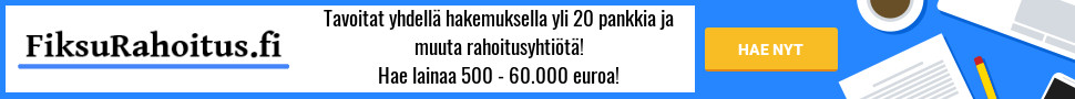 FiksuRahoitus.fi on tuttu ja turvallinen valinta!
