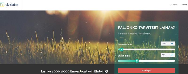 Yleislaina - Lainaa 2000 - 10.000 euroa.