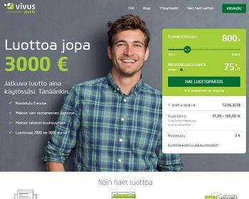 Vivus Jousto tililuottohakemus on maksuton!
