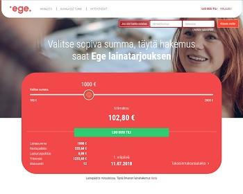 Ege - Lainaa 100 - 2800 euroa ilman takaajia tai vakuuksia.