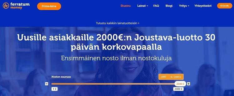 Hae joustoluotto Ferratum.fi palvelusta!