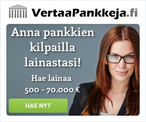 VertaaPankkeja.fi palvelussa pankit kilpailevat sinusta!
