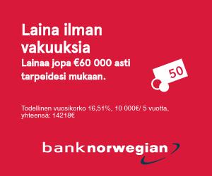 Bank Norwegian - Edullinen pankkilaina!
