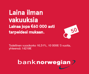 Bank Norwegian on Suomen suosituin verkkopankki!
