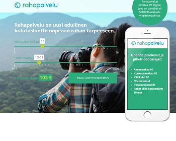Rahapalvelu.fi lainaa edullisesti!