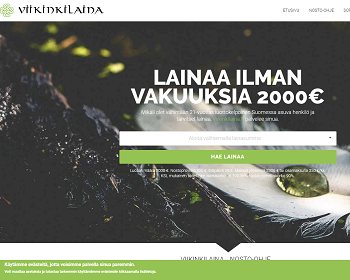 Viikinkilaina.fi - Lainaa jopa 15 minuutissa.