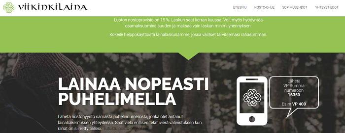 Viikinkilaina.fi - Lainaa helposti puhelimella!