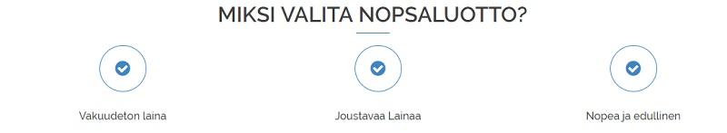 3 syytä valita NopsaLuotto.fi