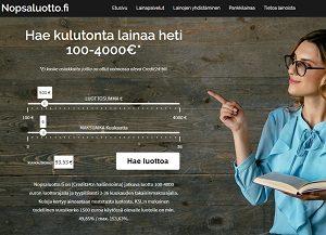 Nopsaluotto.fi joustoluotto 100-4000 euroa