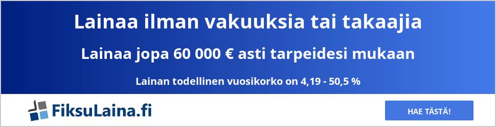 FiksuLaina.fi auttaa lainan etsinnässä