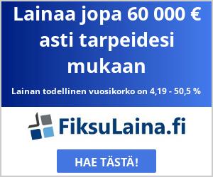FiksuLaina.fi - Hae lainaa 100 - 60.000 euroa