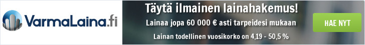 VarmaLaina.fi - Lainaa 100-60.000 €