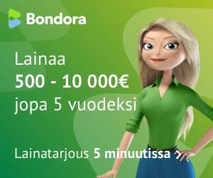 Hae lainaa Bondora.fi palvelusta