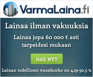 varmaLaina.fi - Hae lainaa 100 - 60.000 euroa