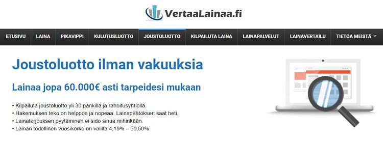 VertaaLainaa.fi | Lainaa tästä