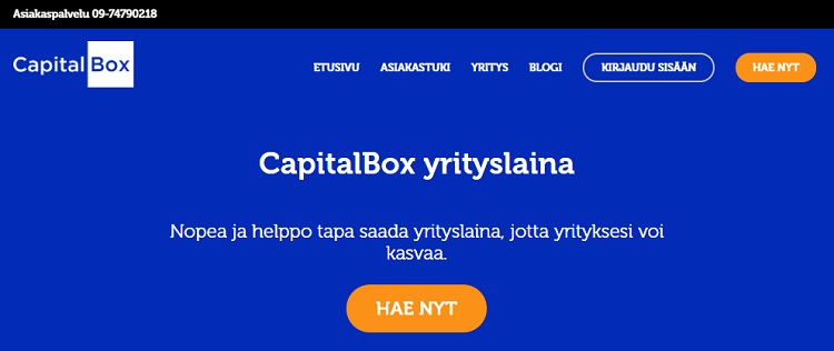 CapitalBox yrityslaina